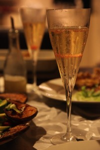 Champagne with Finger Lime Pearls