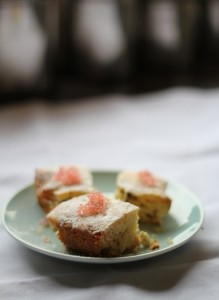 Finger Lime and White Chocolate Slice