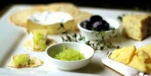 Cheese Platter with Emerald Finger Lime