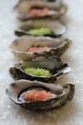 Finger Limes with Oysters
